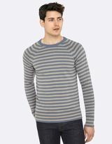 Oxford Brax Stripe Crew Neck Knit