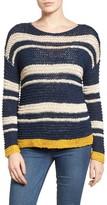 Petite Women's Caslon Stripe Open Stitch Sweater