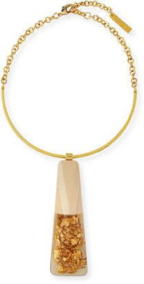 Lafayette 148 New York Gold Foil Statement Necklace