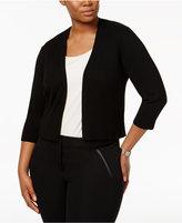 Calvin Klein Plus Size Open-Front Shrug