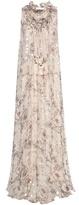 Chloé Fil Coupé Silk Maxi Dress