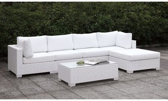 Rosecliff Heights Kuhn 6 Piece Sectional Seating Group with Cushions