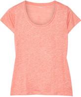 Majestic Linen and silk-blend T-shirt