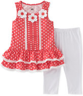 Kids Headquarters 2-Pc. Dot-Print Tunic & Capri Leggings Set, Baby Girls (0-24 months)