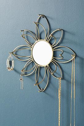 Anthropologie Mirrored Flower Jewelry Organizer By in Silver
