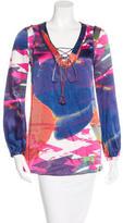 Tory Burch Long Sleeve Silk Tunic