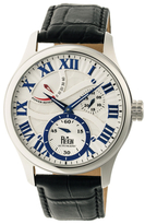 Reign Bhutan Automatic Silver-Tone Engraved Dial Watch, 43mm