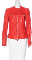 Roberto Cavalli Perforated Leather Jacket