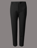 Autograph PETITE Wool Blend Tapered Leg Trousers