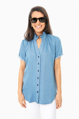 Americana Denim Short Sleeve Loose Back