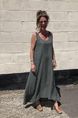 Crossley Lumigan Sleeveless Linen Dress - Xsmall