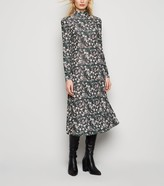 New Look Ditsy Floral Puff Sleeve Midi Dress