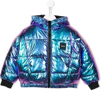 DKNY iridescent reversible padded jacket