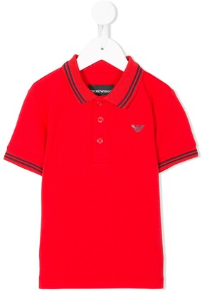 Emporio Armani Kids Contrast-Trim Polo Shirt