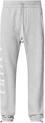 Amiri Side Logo Sweatpants Heather Grey