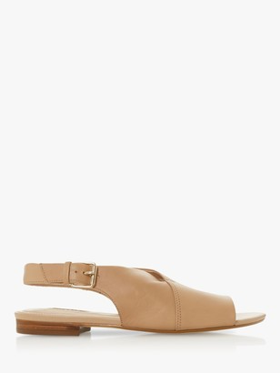 Dune Leannia Leather Flat Sandals
