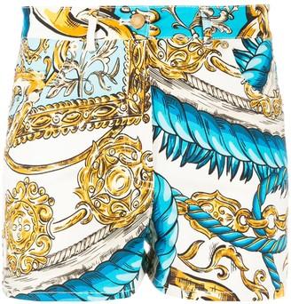 Moschino Rope And Chain-Print Shorts