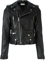 Saint Laurent snakeskin effect biker jacket