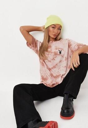 Missguided x Stone Tie Dye Oversized T Shirt