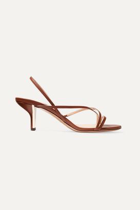 Nicholas Kirkwood Leeloo Leather Slingback Sandals - Tan
