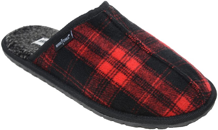 857472f5bac Men's Slip-On Scuff Slippers - Franklin Red Plaid
