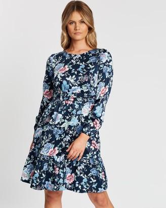 Review Blue Bouquet Dress