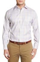 Peter Millar &Nanoluxe& Regular Fit Wrinkle Free Check Twill Sport Shirt