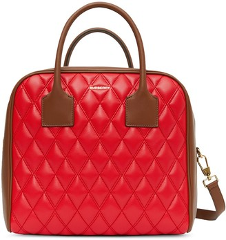 Burberry medium quilted Cube bag