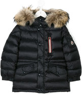 Moncler hooded padded jacket - kids - Feather Down/Polyamide/Racoon Fur - 4 yrs