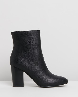 Billini - Women's Black Heeled Boots - Janita Ankle Boots - Size 5 at The Iconic