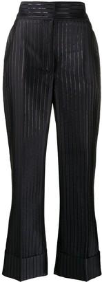 Alberta Ferretti High Waisted Stripe Print Trousers