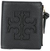 Tory Burch logo print flat wallet - women - Leather - One Size