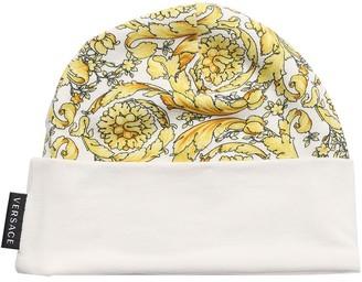Versace Baroque Print Cotton Jersey Hat