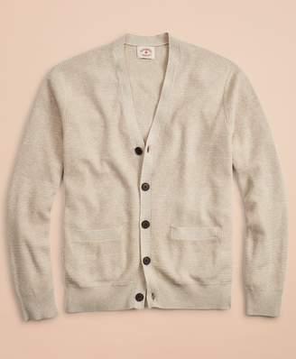 Brooks Brothers Alternating Stitch Cotton-Linen Cardigan