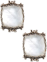 Konstantino Aura Silver & Mother-of-Pearl Cushion Earrings