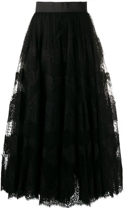 Dolce & Gabbana Lace Full Skirt