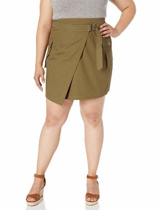 City Chic Women's Apparel Women's Plus-Size Above Knee-Length wrap Skirt Skirt