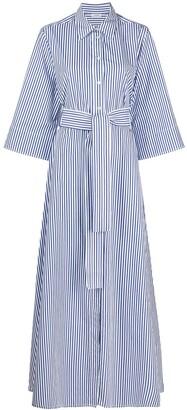 P.A.R.O.S.H. Clacx striped maxi shirtdress