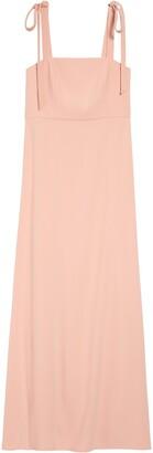 Dessy Collection Shoulder Tie Crepe Gown