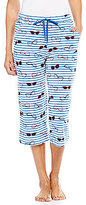 Sleep Sense Stripes & Glasses Capri Sleep Pants