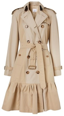 Burberry Ruffle-Hem Trench Coat