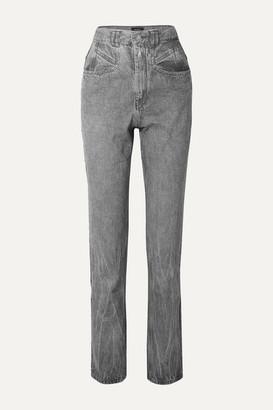 Isabel Marant Dominic High-rise Slim-leg Jeans - Light gray
