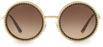 Dolce & Gabbana 53MM Round Scallop Sunglasses