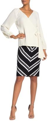 Trina Turk Ashby Chevron Stripe Knit Skirt