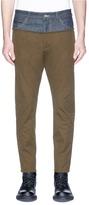 DSQUARED2 Raw denim panel twill pants