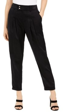 Bar III Pleated Cuffed-Hem Pants, Created For Macy's