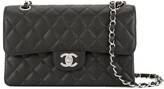 Chanel Pre Owned 2000-2002 CC logos double flap chain shoulder bag
