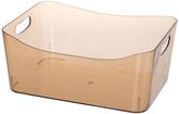 Ybm Home Open Bin Storage Basket Under Cabinet Caddy, Transparent Brown