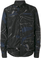 Valentino reversible panther print jacket