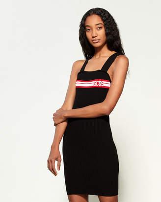 GCDS Rib Knit Intarsia Dress